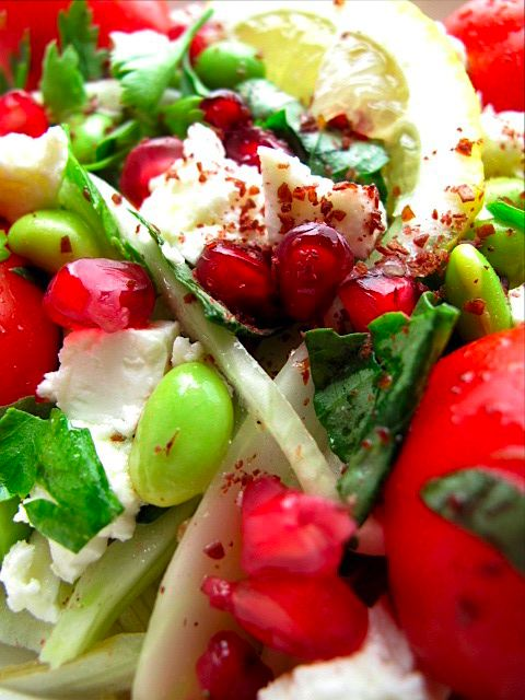 Fennel and Feta with Pomegranate Seeds 2