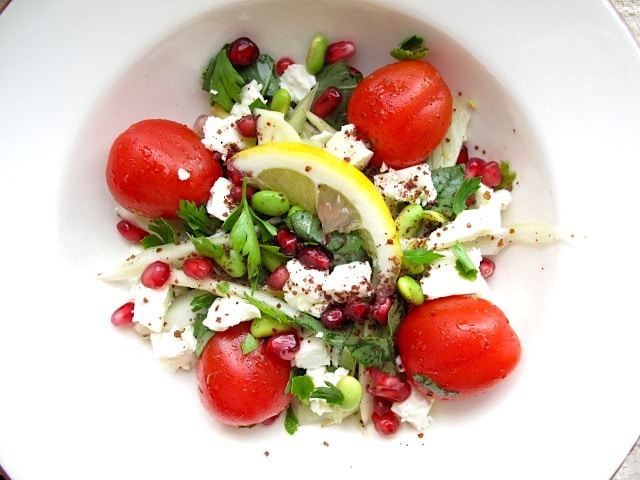Fennel and Feta with Pomegranate Seeds 3