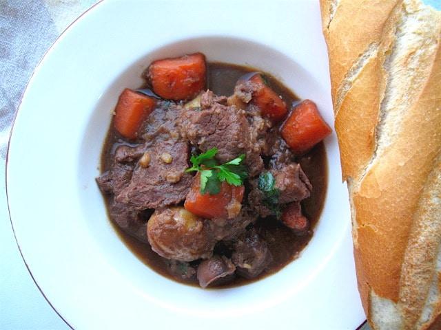 Guinness Beef Stew with Bitter Chocolate 6