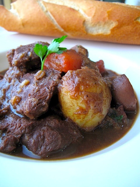 Guinness Beef Stew with Bitter Chocolate