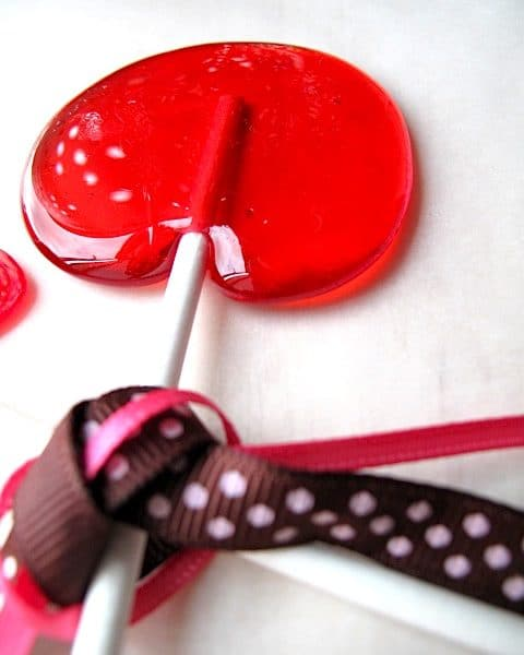 Red Champagne Lollipops